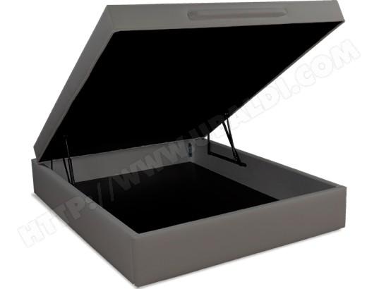 ub design sommier 180 x 200 lit coffre leo 2 180x200cm simili taupe