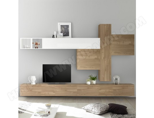 nouvomeuble meuble tv mural chene et blanc laque osteria ma 82ca487meub fugjh