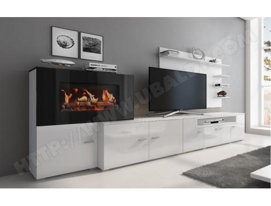 innovation meuble salon cheminee electrique 5 niv de flamme blanc mat laque blanc brillant 290x170x45 ma 77ca487meub w7j6u