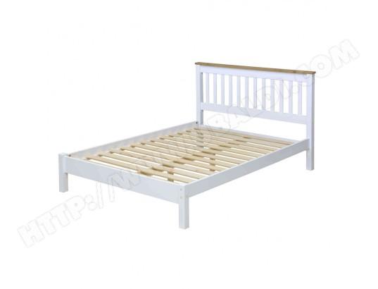 terre de nuit lit en bois blanc 140x190 lt023 ma 69ca230lite ienka