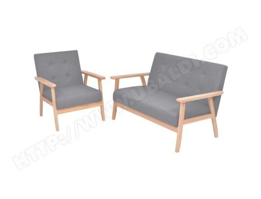 icaverne icaverne ensembles de meubles de salon sejour moderne ensemble de canapes 2 pcs tissu gris clair ma 15ca492icav gwu7c