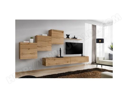 price factory ensemble meuble salon mural switch x design coloris chene wotan ma 76ca494ense x9db9