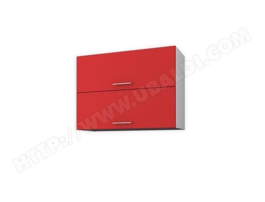 tbd obi meuble haut de cuisine l 80 cm rouge mat ma 31ca597obim 5wiqn