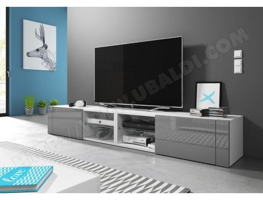 vivaldi hit 2 double meuble tv blanc mat gris brillant ma 54ca487hit2 dz4eb