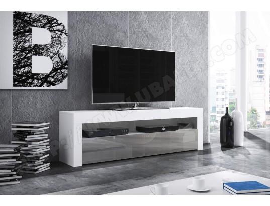 vivaldi mex meuble tv blanc mat gris brillant ma 54ca487mexm icoot