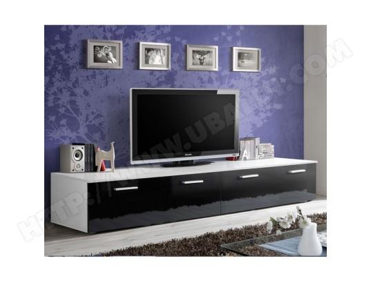 paris prix meuble tv design duo 200cm noir blanc ma 12ca487pari vzbrc
