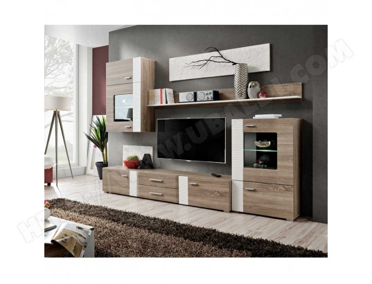 paris prix meuble tv mural design aleppo 240cm chene blanc ma 12ca487pari 0g3em