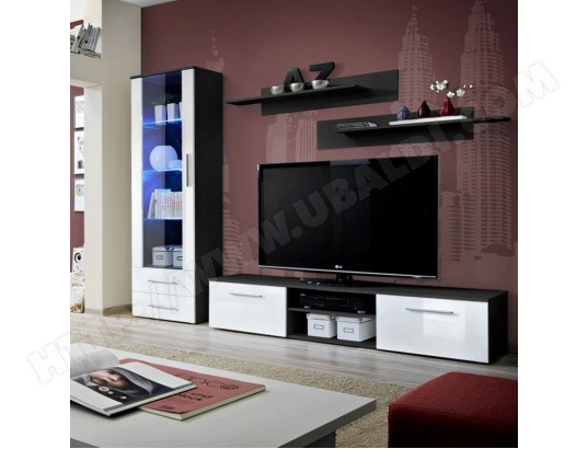 paris prix ensemble meuble tv bibliotheque galino i black blanc ma 12ca487pari pipsp