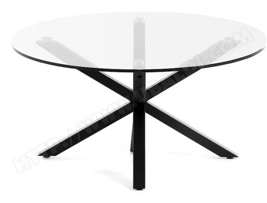 lf table basse arya table basse ronde pieds noir