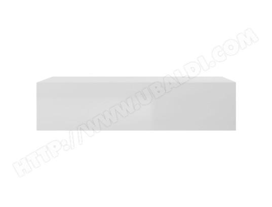 miliboo element mural tv horizontal laque blanc brillant eternel 47023