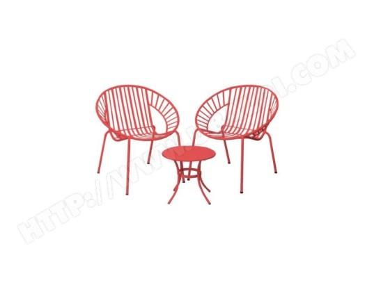 icaverne salon de jardin ensemble table chaise fauteuil de jardin opoa salon de jardin 2 places 2 fauteuils et une table basse en metal corail