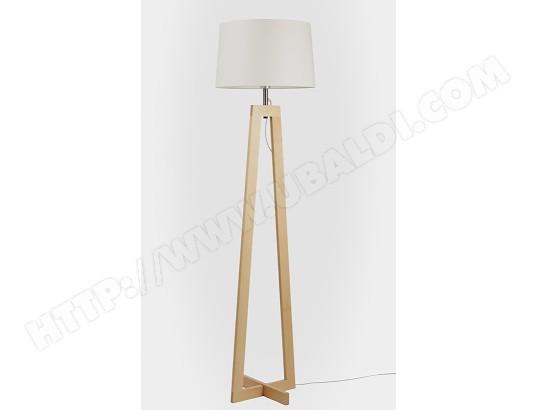 lampadaire salon aluminor sacha ls bois