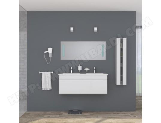 icaverne salle de bain complete alban ensemble salle de bain double vasque avec miroir l 120 cm blanc laque brillant ma 15ca888sall gq01p
