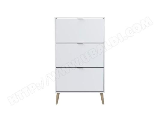 icaverne vestiaire meuble d entree meuble a chaussures blanc 3 portes style scandinave l 75 cm ma 15ca494vest o4ucx