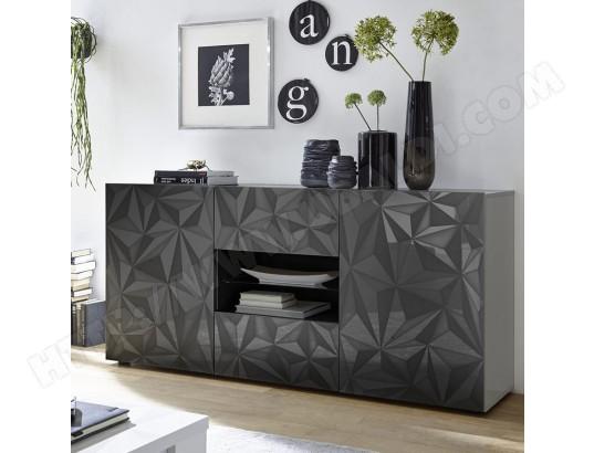 sofamobili buffet 180 cm design gris laque antonio 3 ma 11ca182buff hksj4