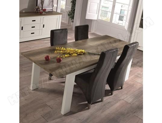 nouvomeuble table extensible 190 cm bois et couleur bois clair contemporaine ethan ma 82ca492tabl 0a27x