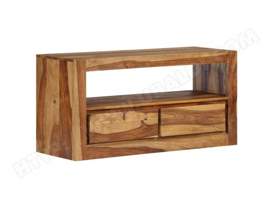 icaverne moderne meubles serie amsterdam meuble tv bois massif de sesham 80 x 30 x 40 cm ma 78ca487mode agtdd