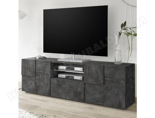 sofamobili meuble tv 180 cm design anthracite artic 5 ma 11ca487meub mzzq2