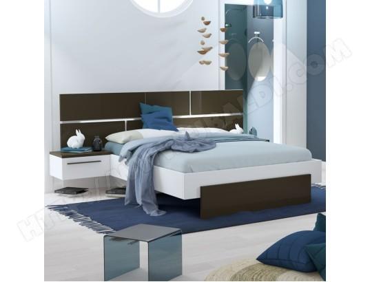 tousmesmeubles cadre tete de lit 140 190 chevets gris anthracite blanc florine l 244 x l 198 x h 40 102 ma 46ca186cadr rz1qe
