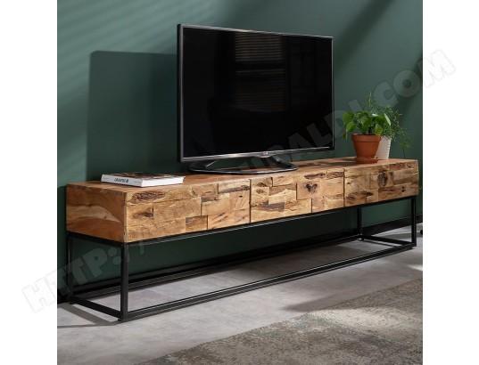 nouvomeuble meuble tele 180 cm contemporain en acacia hinano ma 82ca487meub 2jsvh