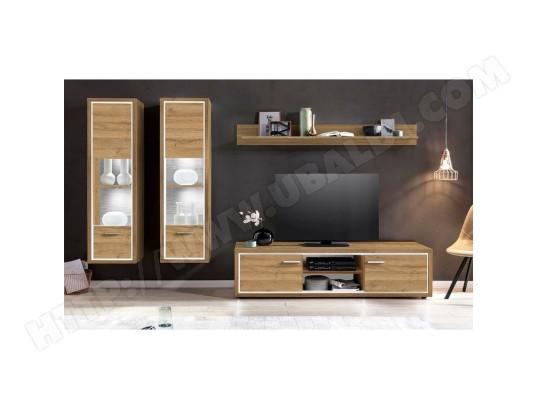 menzzo ensemble meuble tv burgo chene clair light3va03