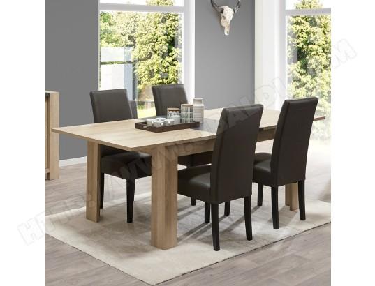 nouvomeuble table extensible couleur bois clair et ardoise hermione ma 82ca492tabl 9eeg8