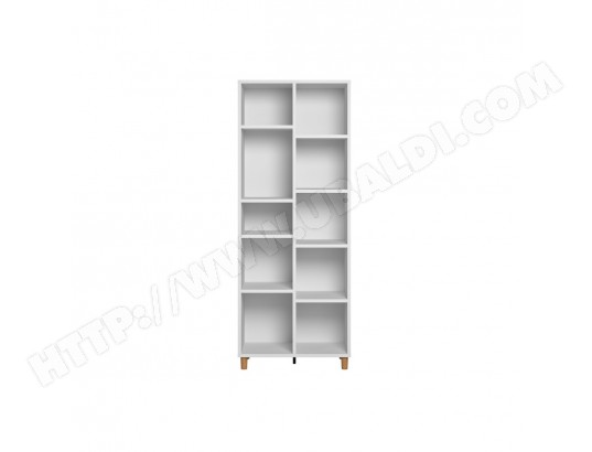 miliboo bibliotheque scandinave blanc et bois jim ma 78ca804bibl 2yf33