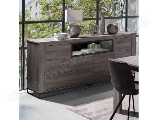 nouvomeuble buffet 4 portes couleur chene gris artos ma 82ca182buff ldkvk