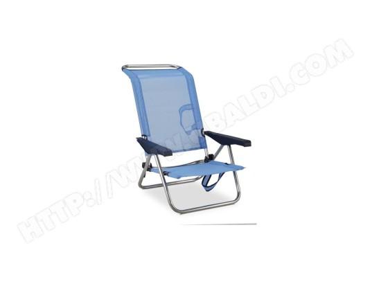 eredu eredu chaise de plage lit 991 tx aluminium et pvc tisse bleu et gris ma 11ca281ered qoycd
