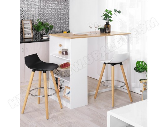 furniturer table de bar table haute scandinave a 4 personnes blanc ma 14ca492tabl g9fzs