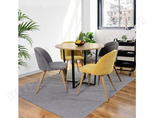 furniturer table a manger ronde scandinave a 6 places en mdf metal noir ma 14ca492tabl u9x5b