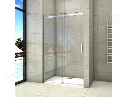 aica sanitaire aica porte de douche cabine de douche coulissante 130x195cm ma 12ca546aica fc46g