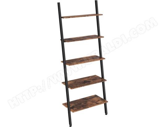helloshop26 etagere echelle de style industriel bibliotheque meuble de rangement a 5 niveaux 12 0000256 ma 18ca194etag ejgqx