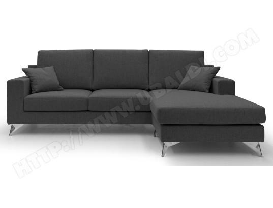 alterego divani canape tissu morgan angle reversible noir