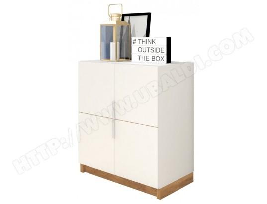beaux meubles pas chers armoire basse 2 portes blanche ma 18ca194armo 779w0