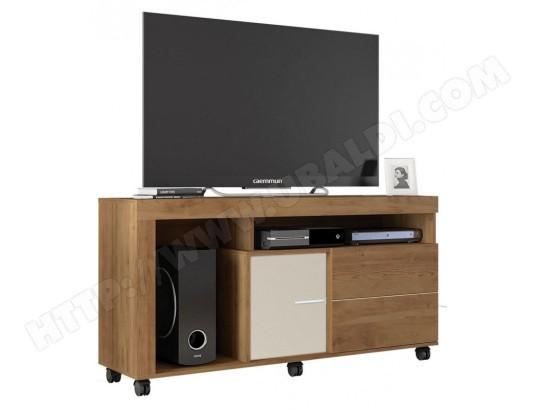 beaux meubles pas chers meuble tv 55 pouces maxi chene et ecru ma 18ca487meub ojsbv