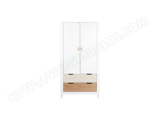 miliboo armoire scandinave avec penderie et tiroirs bois blanc molene ma 78ca194armo 2vi85