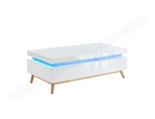 tbd alanis table basse a led multicolore l 120 cm decor chene et blanc ma 15ca182alan jsqyn