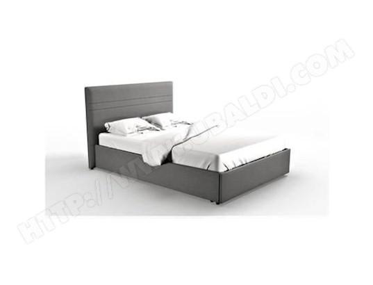 tbd mezza lit adulte 140 x 190 cm avec tete de lit coffre de rangement tissu gris ma 15ca186mezz br4vt