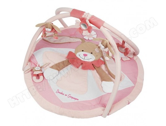 doudou et compagnie tapis d eveil tapis d eveil lapin rose