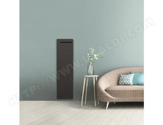 airelec airelec naomi a693765 radiateur a inertie fonte connecte vertical 1500w coloris gris fabrication francaise programmable
