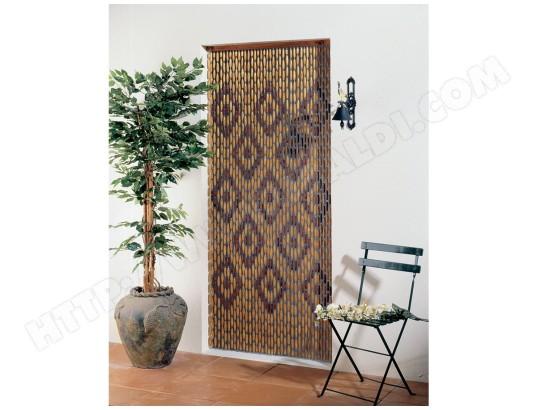 jardideco rideau de porte en perles olives de bois verni avec motifs losanges 90 x 200 cm ma 12ca528ride g6ite