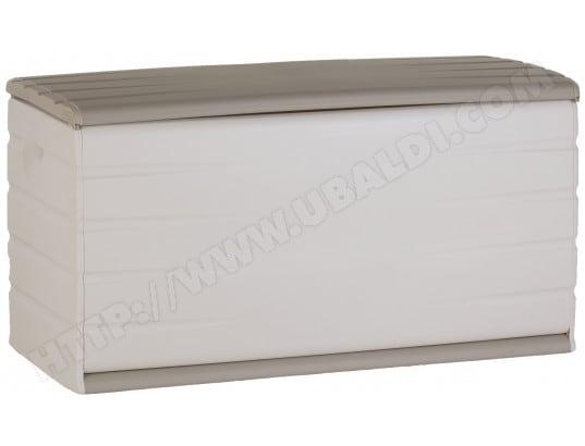 plastiken coffre de rangement 97120 beige et blanc 390 litres