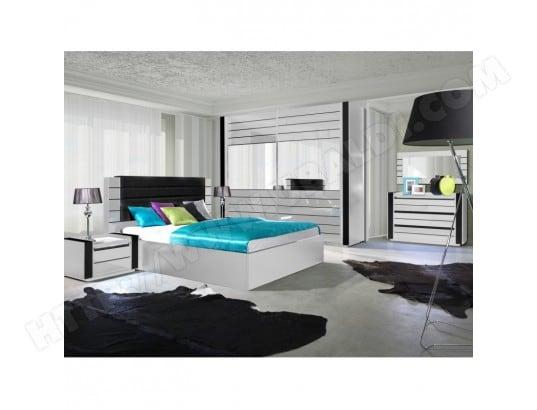 price factory chambre a coucher complete lina blanche et noire brillante ensemble complet moderne et design pour votre maison
