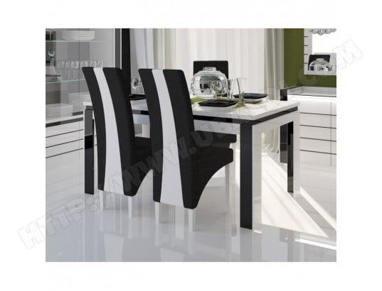 price factory table 180 cm 4 chaises lina table pour salle a manger brillante blanche et noire avec 4 chaises simili cuir meubles design