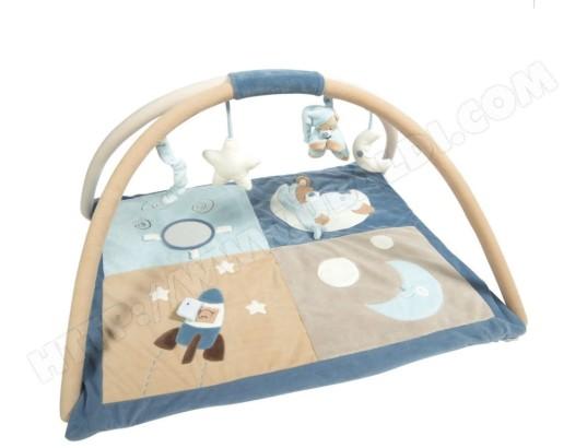 nattou tapis avec arches bleu milo