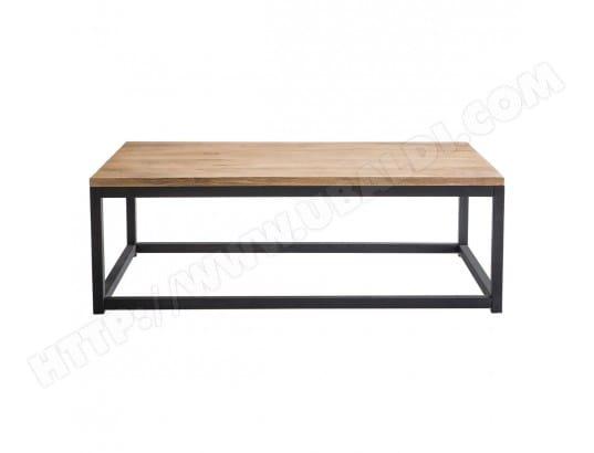 miliboo table basse industrielle bois metal rectangulaire factory 21582