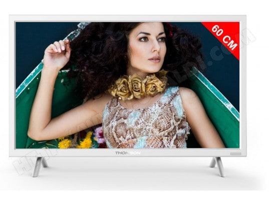 thomson tv led 60 cm 24ha4243w blanc