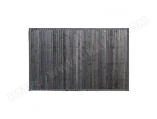 atmosphera tapis en bambou latte 120x170cm gris fonce jj131570l