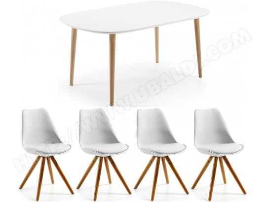 lf ensemble table et chaises table oakland extensible 4 chaises lars